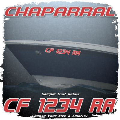 Chaparral Registration (2 included), Choose Your Own Colors