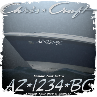 Chris Craft Registration (2 included), Choose Your Own Colors