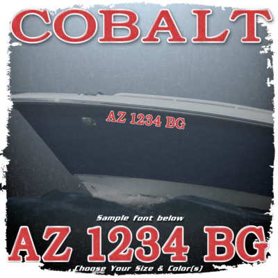 Cobalt Registration (2 included), Choose Your Own Colors