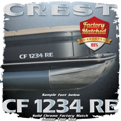 Crest Registration (2 included), Factory Matched Chrome