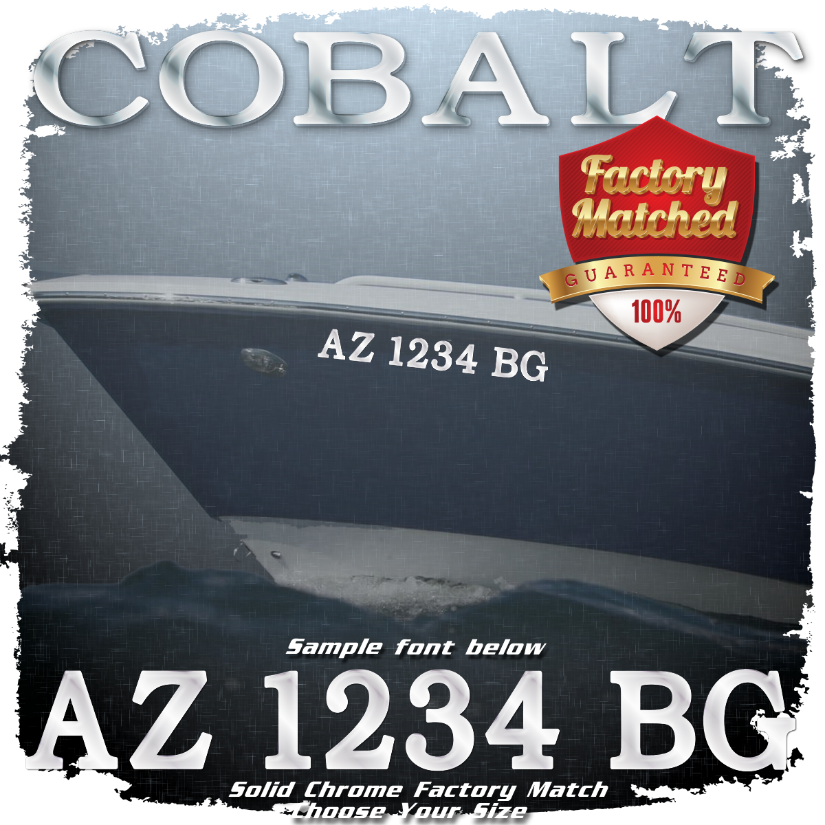 Cobalt Registration (2 included), Factory Matched Chrome