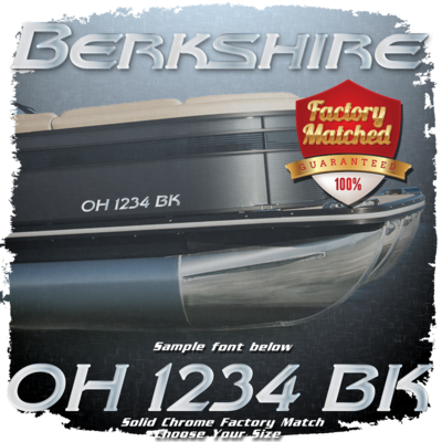 Berkshire Registration (2 included), Factory Matched Chrome