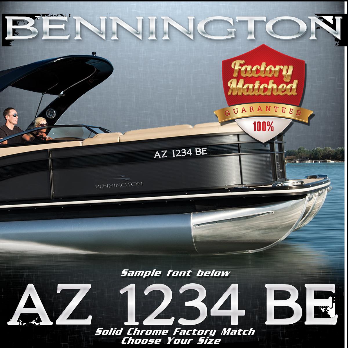 Bennington Registration Factory Matched to Emblem (2 included)