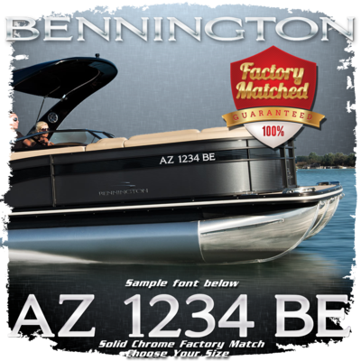 Bennington Registration Factory Matched to Emblem (2 included)