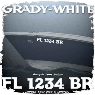 Grady White Registration (2 included), Choose Your Own Colors