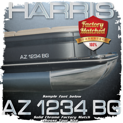 Harris Registration (2 included), Factory Matched Chrome