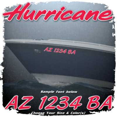 Hurricane Registration (2 included), Choose Your Own Colors