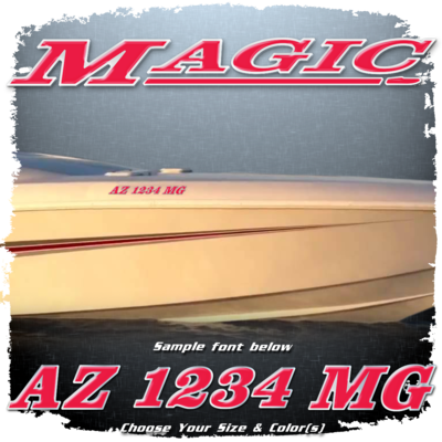 Magic Powerboats Registration, Choose Your Own Colors (2 included)