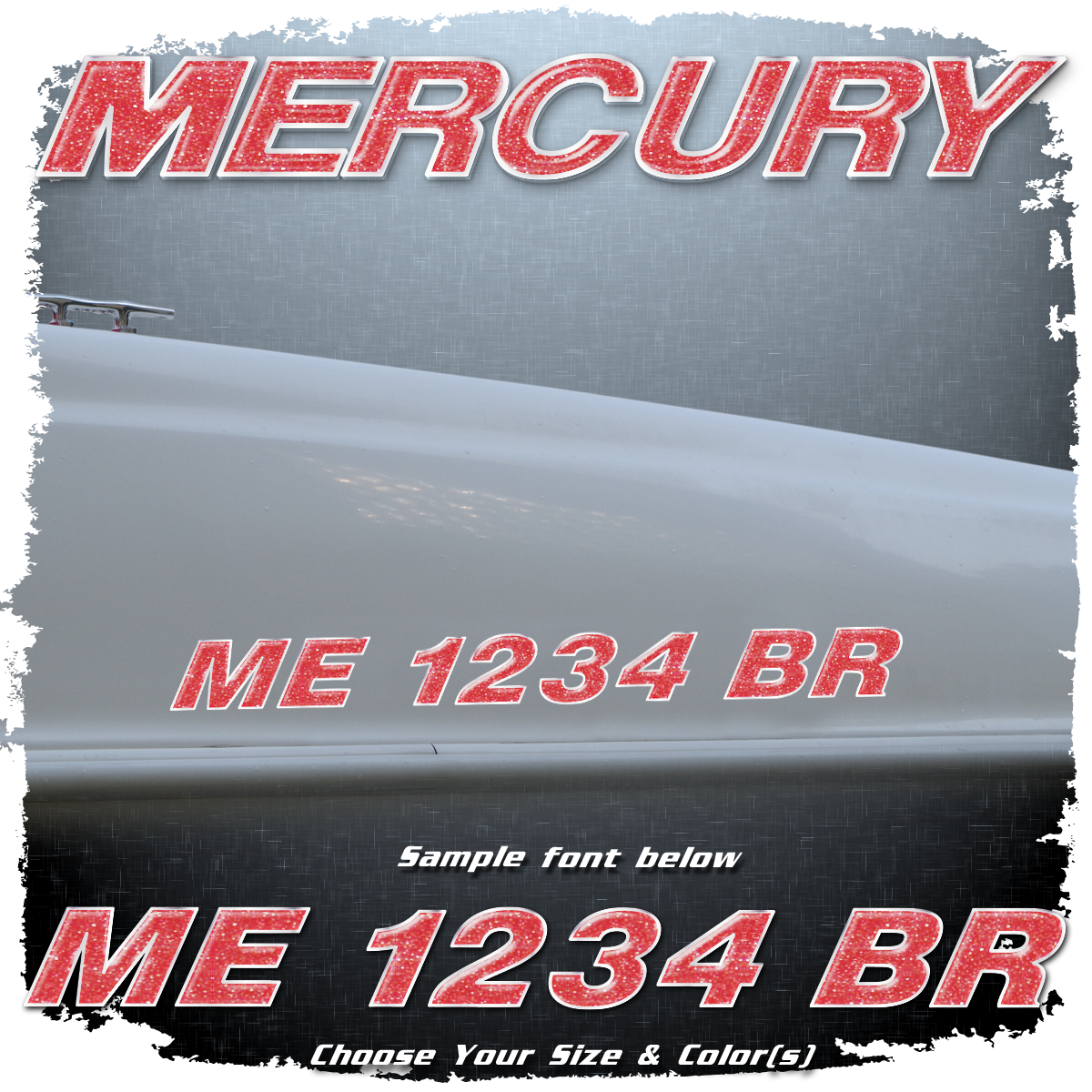 Mercury Registration (2 included), Choose Your Own Colors