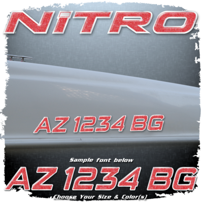 Nitro Registration (2 included), Choose Your Own Colors