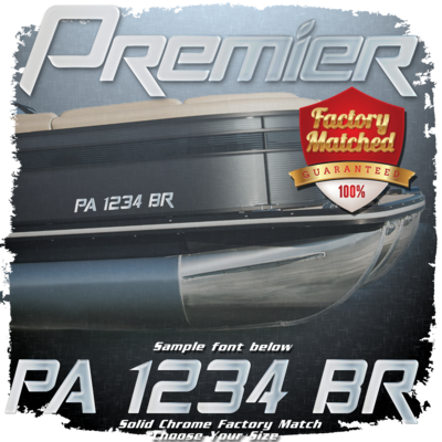 Premier Registration (2 included), Factory Matched Chrome
