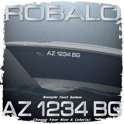 Robalo Registration (2 included), Choose Your Own Colors
