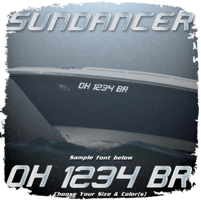 Sea Ray Sundancer Registration, Choose Your Own Colors (2 included)