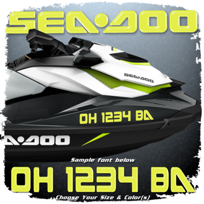 Sea Doo Registration, Choose Your Own Colors  (2 included)