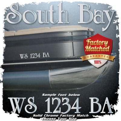 Classic South Bay Registration, Factory Matched Chrome (2 included)
