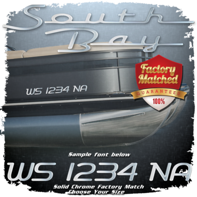 New South Bay Registration, Factory Matched Chrome (2 included)