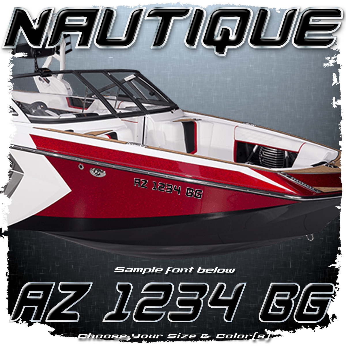 Nautique Registration (2 included), Choose Your Own Colors