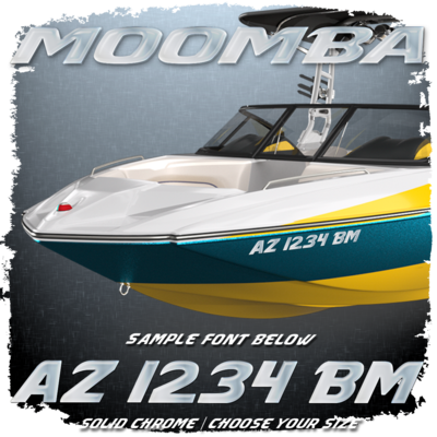 Moomba Registration (2 included), Factory Matched Chrome