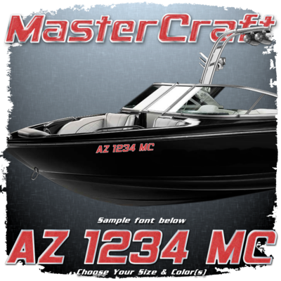 MasterCraft Domed Registration, 2000 -'13 , Choose Your Own Colors (2 included)