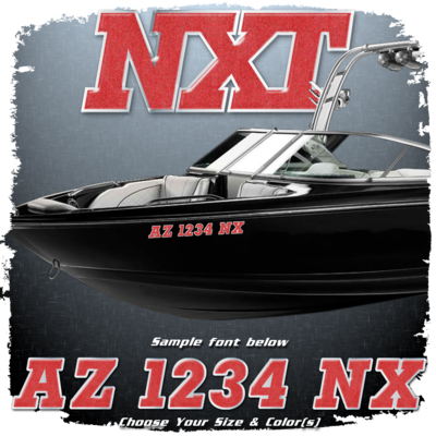 MasterCraft NXT Domed Registration, Choose Your Own Colors (2 included)