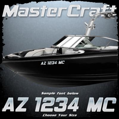 MasterCraft Domed Registration, 2014 - current, Chrome (2 included)