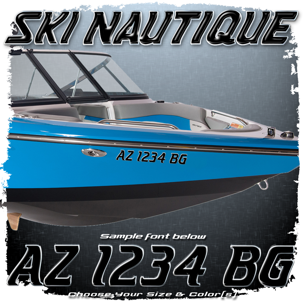 Ski Nautique Registration, 1980-01, Choose Your Own Colors (2 included)