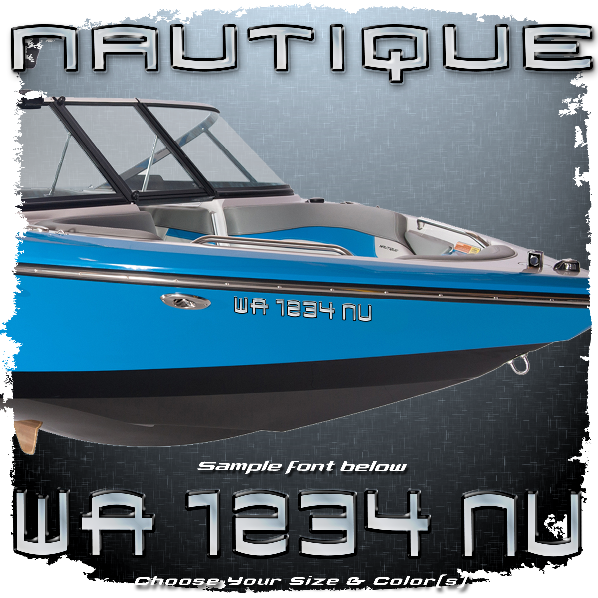 Super Air Nautique 210 Font Registration, 2003, Choose Your Own Colors (2 included)