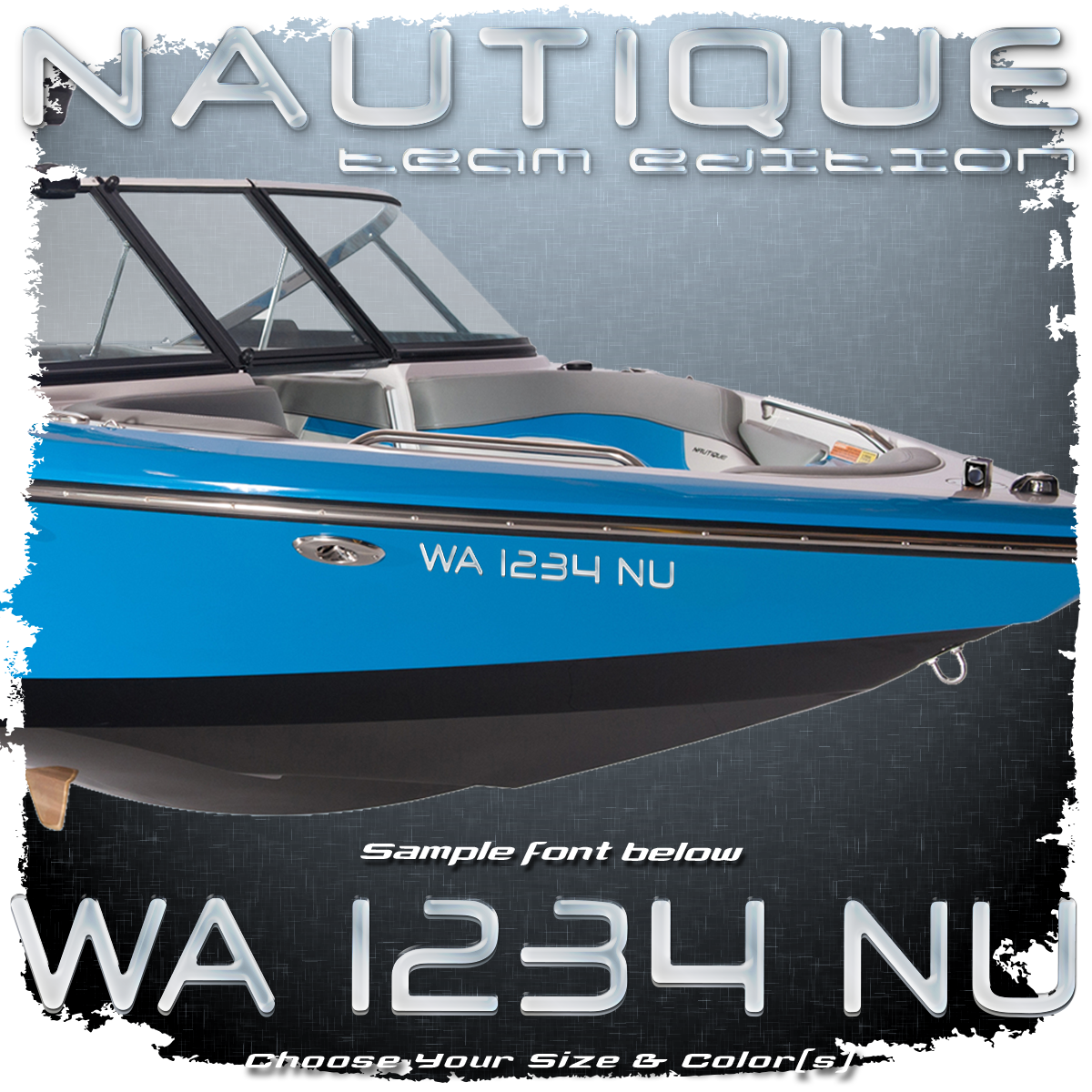 Nautique Team Edition Registration, 2003-05, Choose Your Own Colors (2 included)