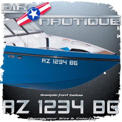 Air & Super Air Nautique 2000-2005 Registration (2 included), Choose Your Own Colors