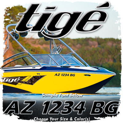 Tige Registration (2 included), Choose Your Own Colors