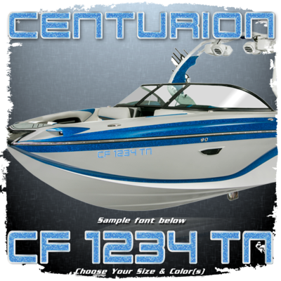 Centurion Registration (2 included), Choose Your Own Colors