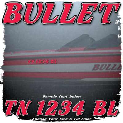Bullet Registration with Factory Matched Outlines (2 included), Choose your fill color