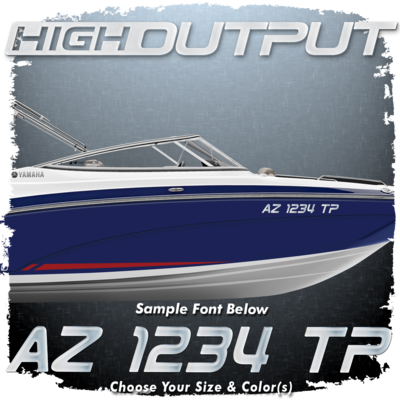 Yamaha High Output Font Registration, Choose Your Own Colors (2 included)