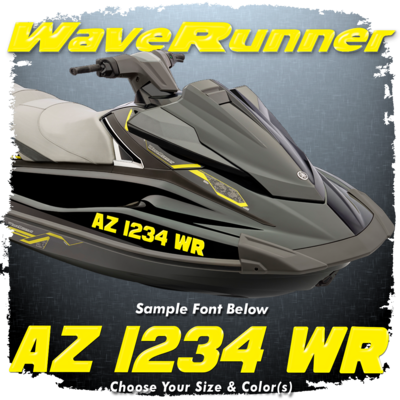 Yamaha Waverunner Font Registration, Choose Your Own Colors (2 included)