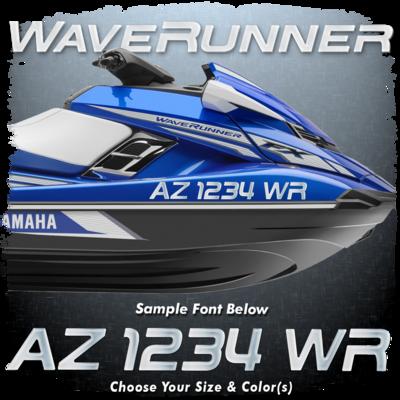 Yamaha FX HO Waverunner Font Registration, Choose Your Own Colors (2 included)