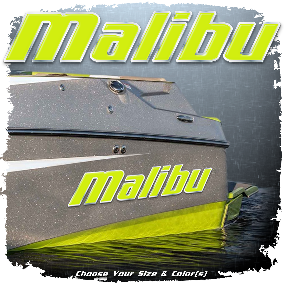 Domed Malibu Decal, New Logo, Choose Your Size & Color (1 Decal Included)