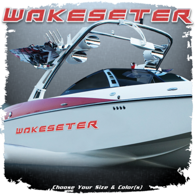 Malibu Wakesetter Decal, 2014 - current, Choose Your Size & Color  (1 Decal Included)