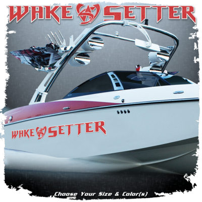 Malibu Wakesetter Decal, 2010-13, Choose Your Size & Color  (2 included)