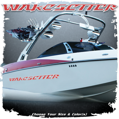 Malibu Wakesetter Decal Set, 2007 LSV, Choose Your Colors (2 included)