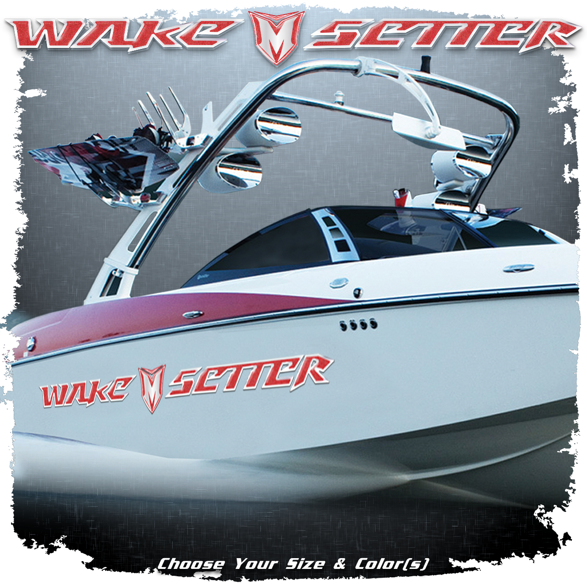 Malibu Wakesetter Decal Set, 2007-09, Choose Your Colors (2 included)