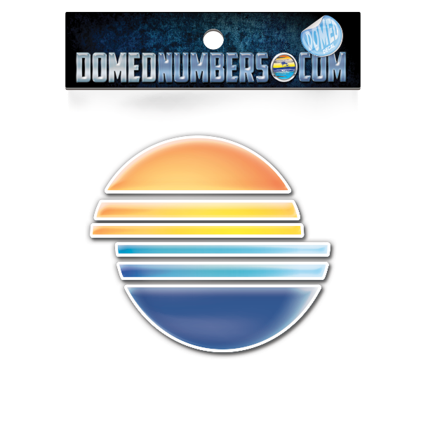 Domed Malibu Full Color Icon, Choose your size