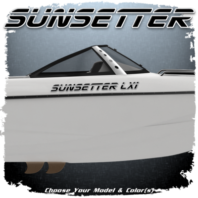 Malibu Sunsetter Decal Set, 2000-05,  Choose Your Model & Color (2 included)