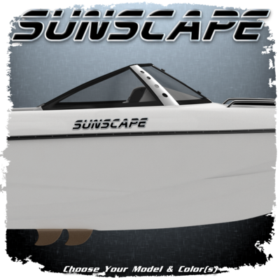 Malibu Sunscape Decal Set, 2001-05,  Choose Your Model & Color (2 included)