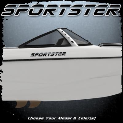 Malibu Sportster Decal Set, 2000, Choose Your Model & Color (2 included)