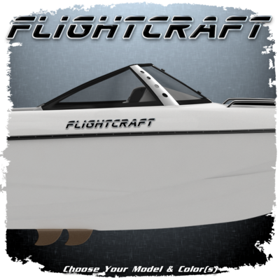 Malibu Flightcraft Decal,  Choose Your Color (2 included)