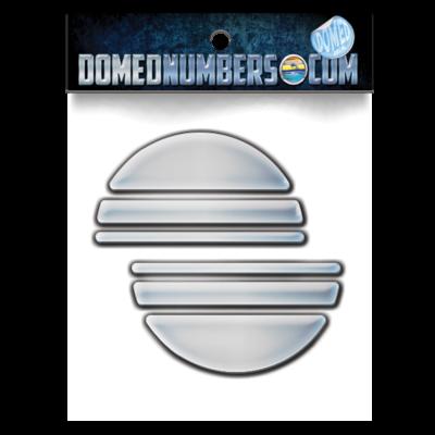 Domed Malibu Chrome Icon, Choose your size