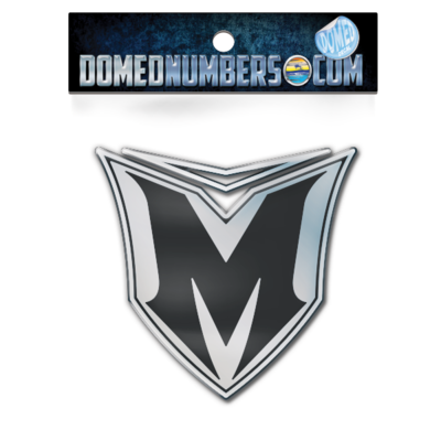 Domed Malibu Wakesetter Shield Decal, Choose your size