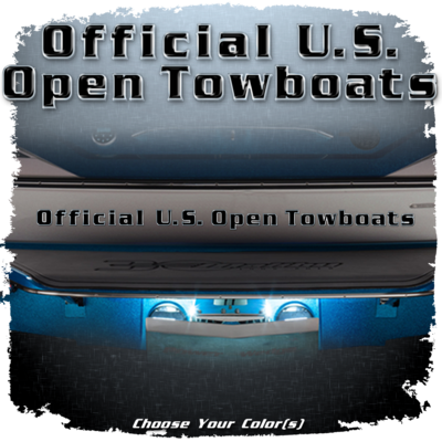 Malibu Official U.S. Open Towboats Domed Decal, Choose Your Color(s)