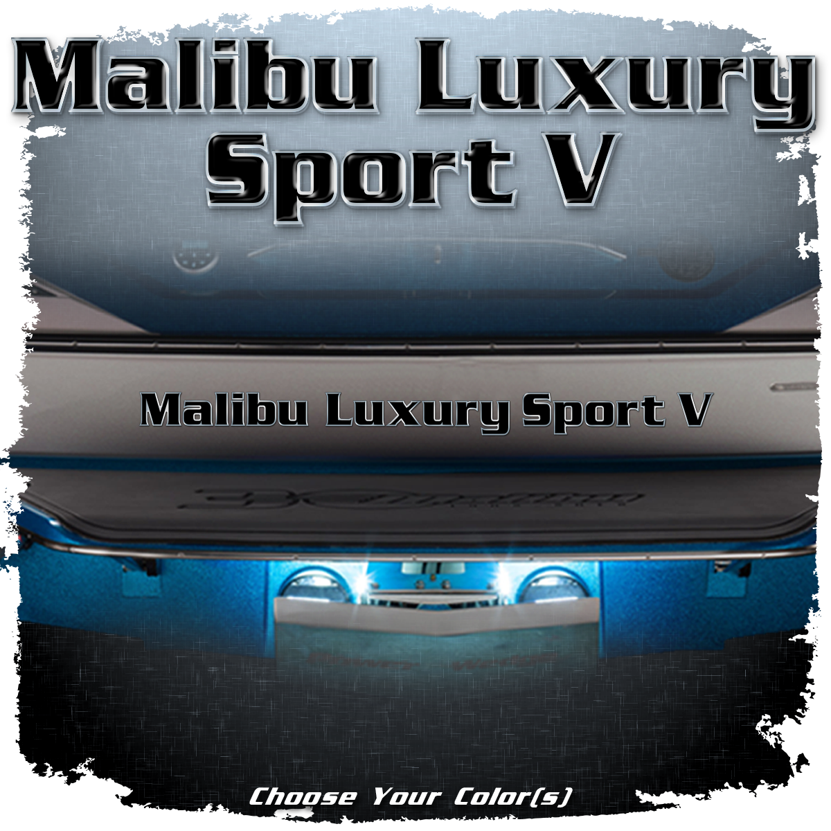 Malibu Luxury Sport V Domed Decal, Choose Your Color(s)