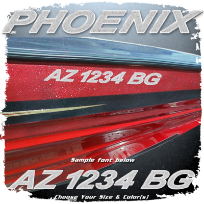 Phoenix Registration (2 included), Choose Your Own Colors